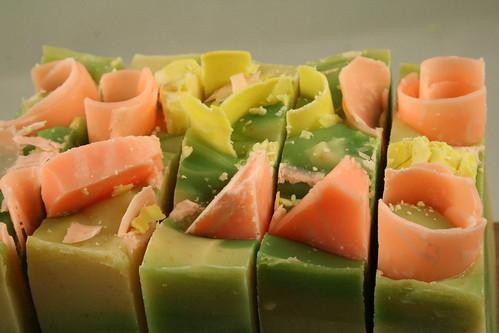 coconut citrus sorbet handmade soap 004
