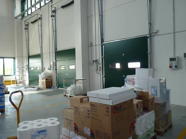 Porte sezionali Overdoor vista interna dei pannelli isolati in polistirene