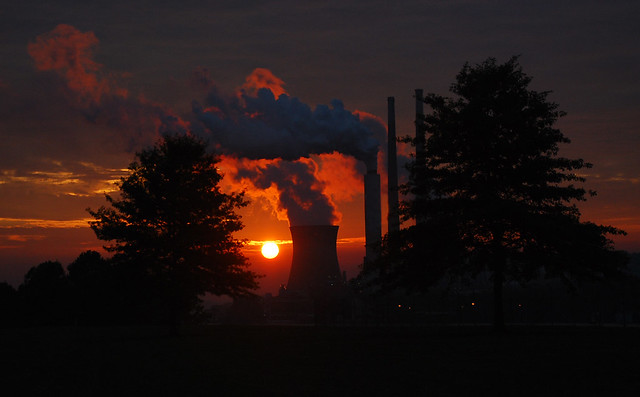 A Problem and a Solution, Willow Island coal fired power plant by theoflich on Flickr on August 4, 2012.