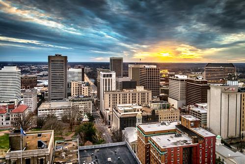 city sunset usa skyline photography virginia cityscape view aerial richmond va birdseyeview birdseye rva skynoir