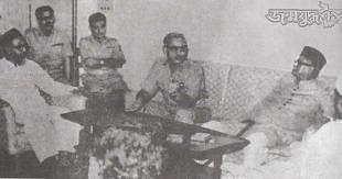 Ghulam Azam with Rao Farman Ali