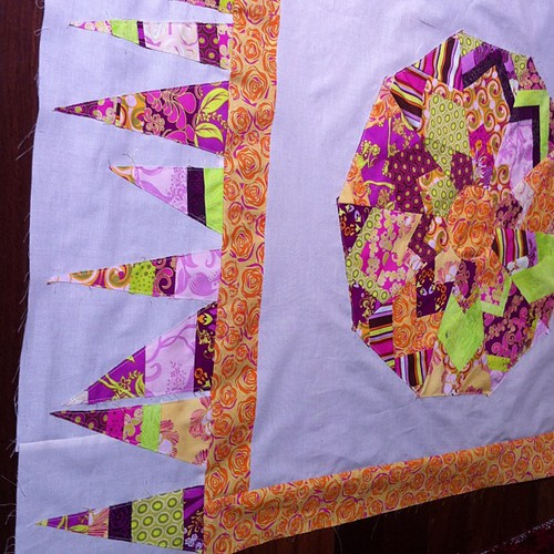 First border sewn by Scrappy quilts