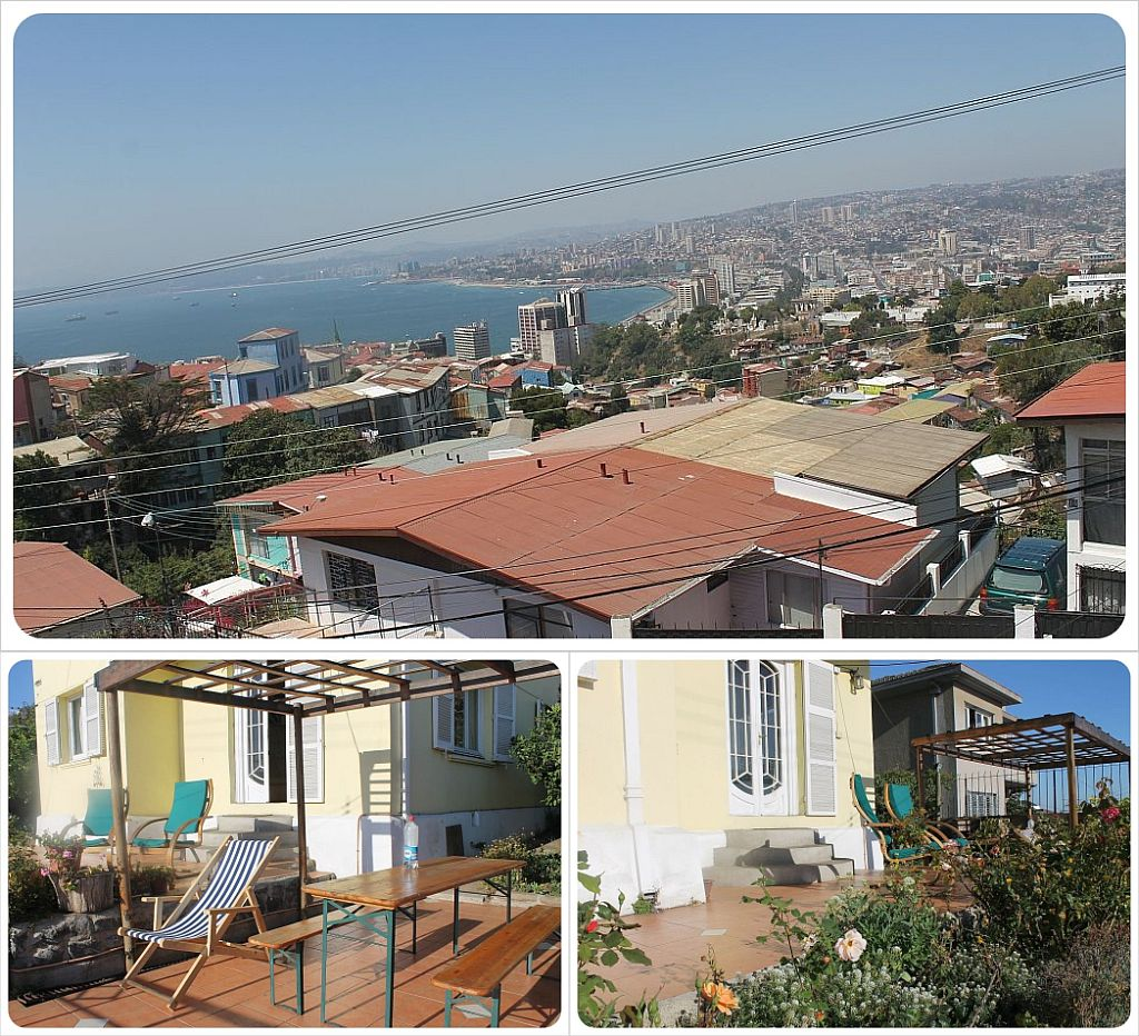 Valparaiso Casa Kreyenberg B&B terrace and view
