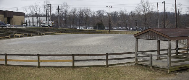 "The Baltimore County Trailriders Association, Timonium Flat Track in it's natural ,""horsey"" state. So barren, So quiet. So lifeless.   Taken yesterday going between building as the ""Big"" Timonium Motorcycle Show. Pano by Photoshop Photomerge    © 2013 Doug Miller Photography  <a href=""http://www.dougmillerphotos.com"" rel=""nofollow"">www.dougmillerphotos.com</a>  <a href=""http://www.speedovision.com"" rel=""nofollow"">www.speedovision.com</a>"