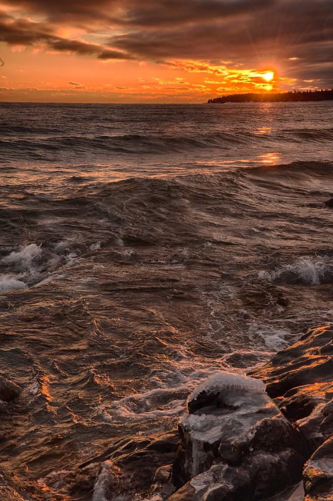 Cascade River sunset
