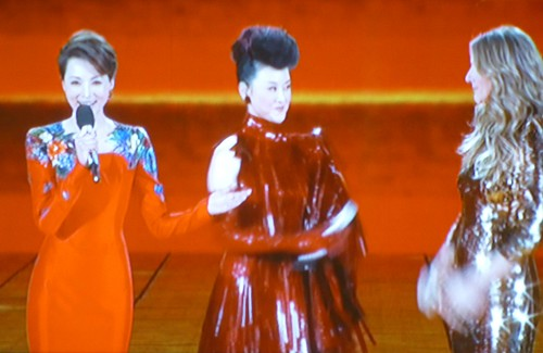 Chine-Celine Dion et Song Zhu Ying (11)