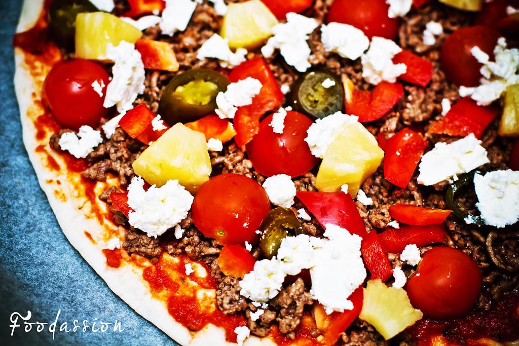 Pizzan valmistusta