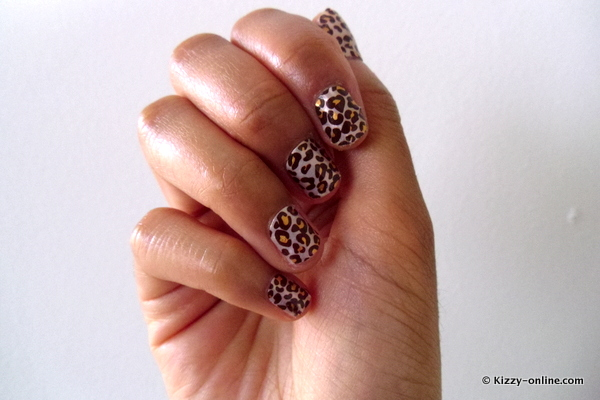 Kiss Nail Dress Nails Tips Strips Toes Stickers KDS10 Leopard