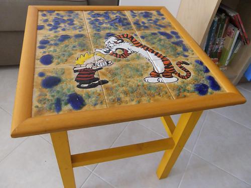 Uma mesa de apoio....