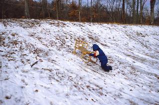 Kansas   -   Ft. Leavenworth   -   CGSC   -  Hancock   -   Sledding   -   Jeb   -   December 1980
