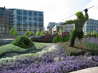 Moby Dick as topiary