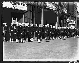 United States Naval Patrol at the Citizens' Welcome Canteen at East Circular Quay, Sydney