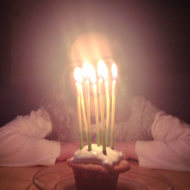 Seven candles for our big girl