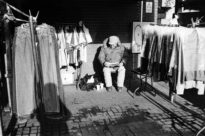 0023 Clothes stall, Leeds outdoor market
