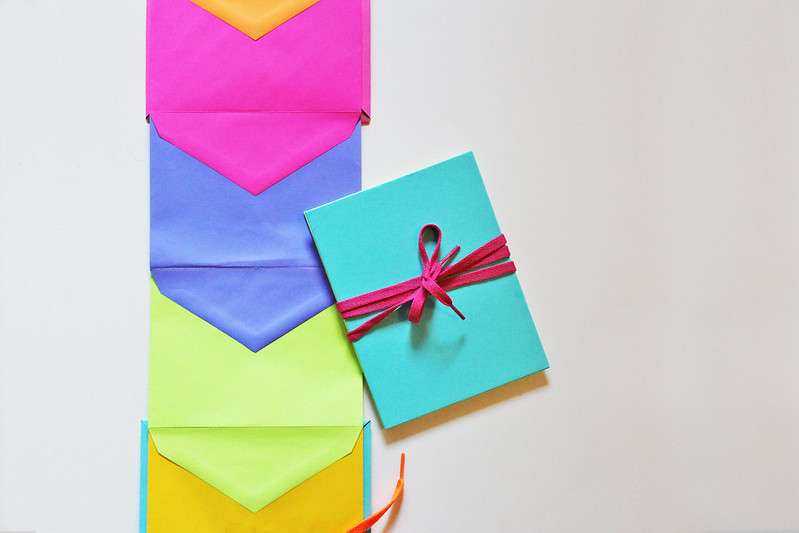 Make a day-glo envelope book for all your treasures