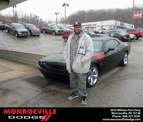 Congratulations to Richard Harris Jr on the 2013 Dodge Challenger by Monroeville Dodge