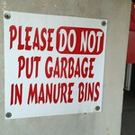 No garbage in this manure!
