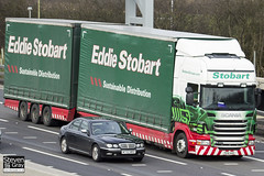 Scania R440 6x4 Curtainside with Drawbar Curtainside Trailer - PE61 AHG - Veronica Lilly - Eddie Stobart - M1 J10 Luton - Steven Gray - IMG_1562