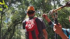Tree top zip line, Paksong, Laos