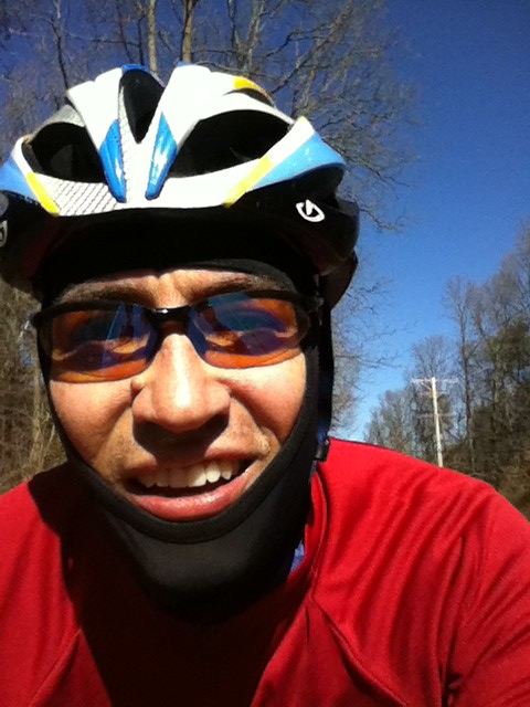 Self portrait while riding
