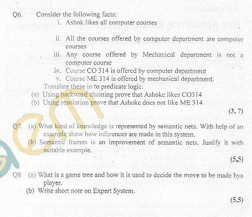 DTU: Question Papers 2012 - 6 Semester - End Sem - SW-314