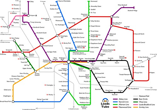 Leeds Tube map updated