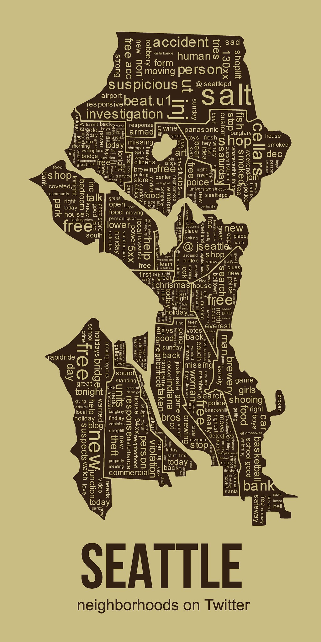 Seattle Neighborhoods on Twitter Flickr