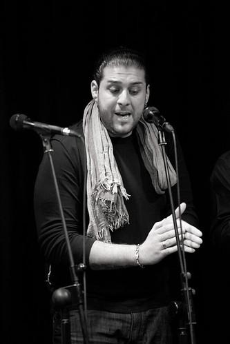 Antonio Fernández, cantaor, fotografiado por Maya Balanya