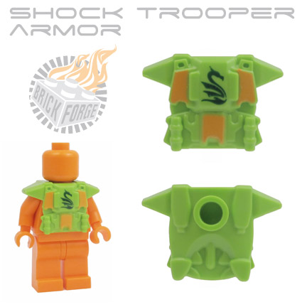 Shock Trooper Armor - Lime Green (dark green serpent print)