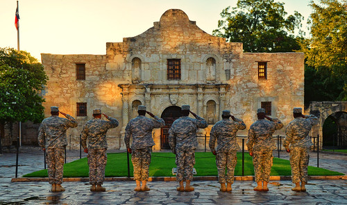 bravo respect military salute thealamo sanantoniotexas texasindependence top20texas tpslandscape