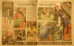 'Dazzled by the brights' - Sunday Sun newspaper.