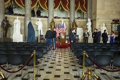 National Statuary Hall of the U.S. Capitol, just hours before the unveiling of a statue honoring civil rights icon Rosa Parks.  February 27, 2013.  (Official Photo by Heather Reed)