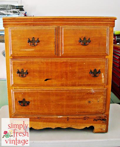 Vintage Dresser Before