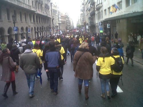 manifestació #28fvaga d´universitats a BCN