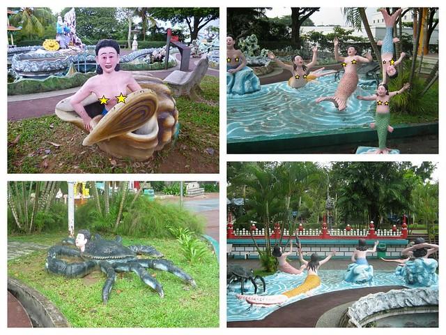 Haw Par Villa nude mermaid statues