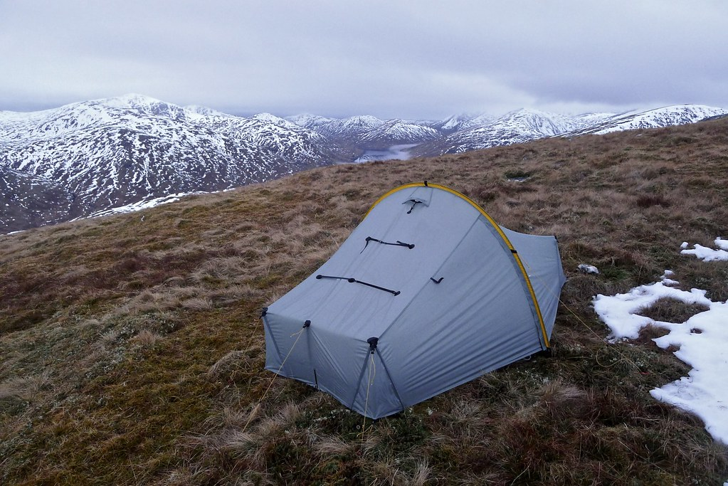 Camped above Loch Lyon