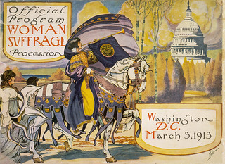 Cover of the program for the 1913 women's suffrage procession