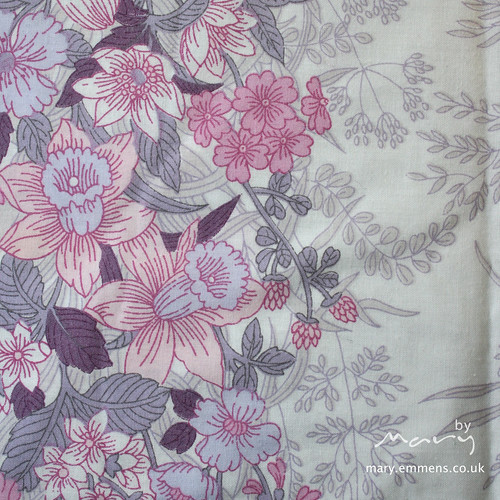Vintage sheet - pink purple