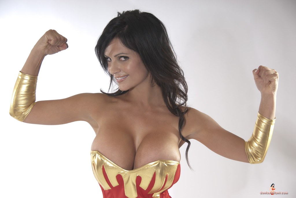mujeres denise milani as wonder woman a photo on