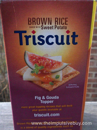 Nabisco Roasted Sweet Onion Brown Rice Baked With Sweet Potato Triscuit Side Box