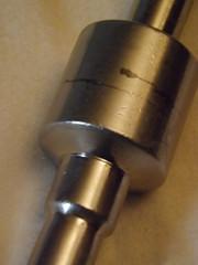 gun barrel(0.0), cylinder(1.0),