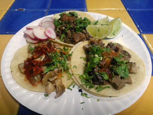 Lengua, Buche, and Cabeza Tacos