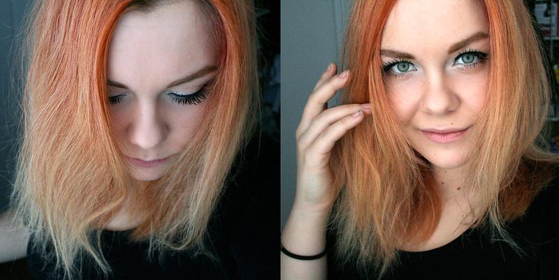 blonde peach