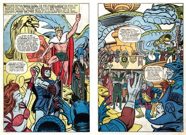 Fantastic Four Annual 1 double page splash Kirby