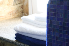 towels for guests in bathroom