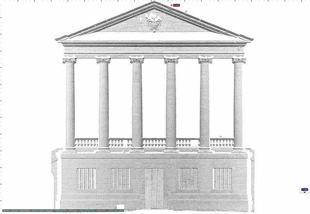 Elevation image of entrance portico