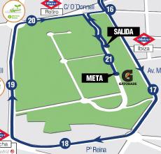 Parque del Retiro: kms. 0 - 0,5 en 16 - 21,1