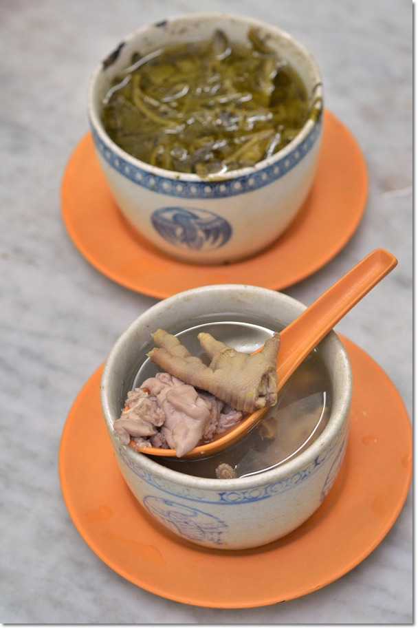 Pig's Brain Soup & Watercress Soup