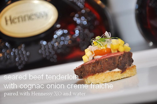 Hennessy XO Appreciation Grows 2013 seared beef tenderloin
