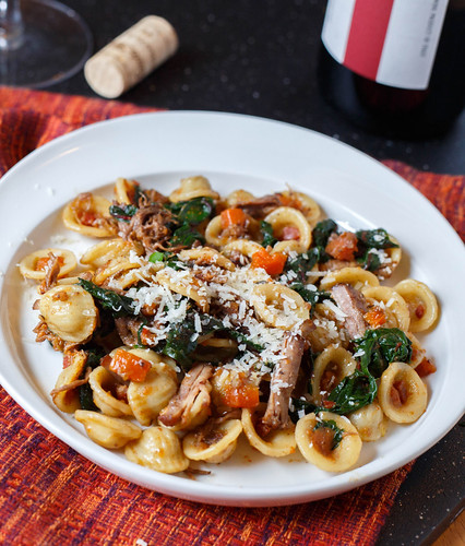 Sautéed Swiss Chard Ribs With Cream And Pasta Recipe — Dishmaps